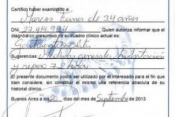 Certificados truchos: desde una semana por lumbalgia hasta licencias indefinidas