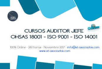 2017: ESPAÑA – CURSO AUDITOR JEFE OHSAS 18001 – ISO 9001 – ISO 14001
