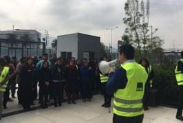 ACHS participa en simulacro de AIEP